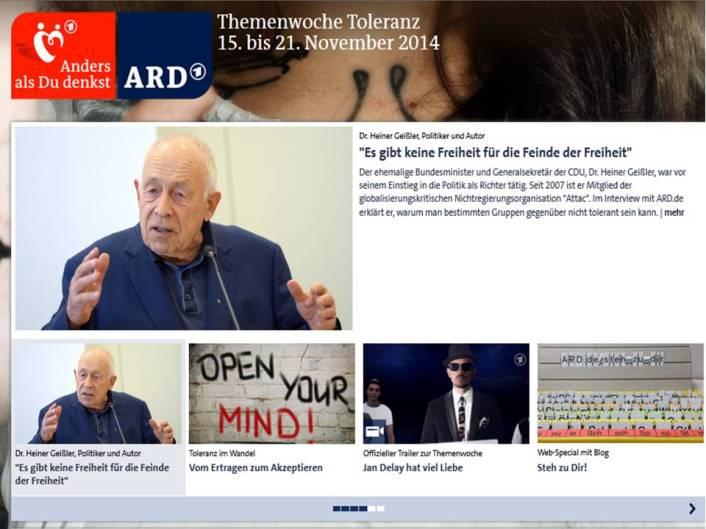 ARD-Themenwoche Toleranz