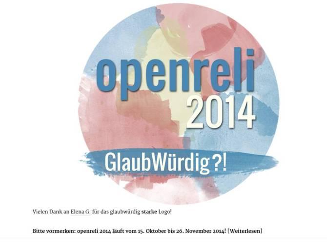 Open Reli 2014 Glaubwürdig