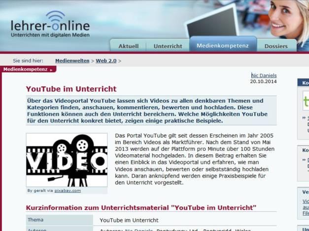 Youtube im Unterricht