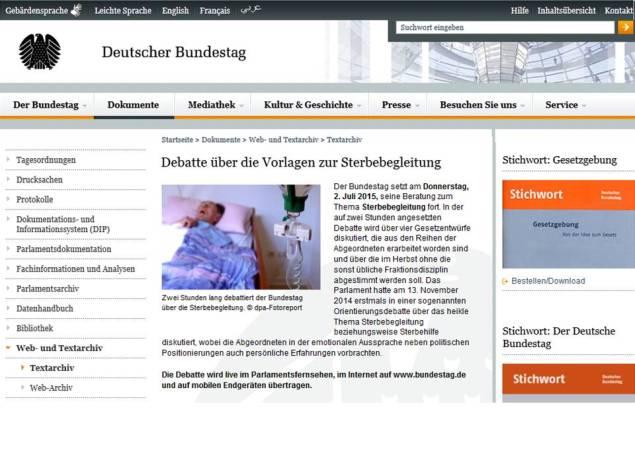 Sterbehilfe Bundestag